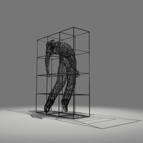 Man in the cage